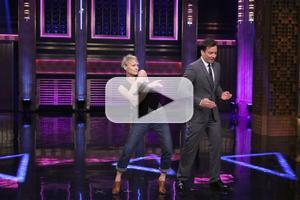 VIDEO: Robin Wright & Jimmy Fallon Play 'Turn & Face the Music' on TONIGHT