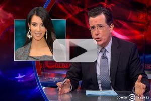 VIDEO: Stephen Takes on Kim Kardashian's New Mobile Game on COLBERT REPORT
