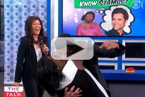 VIDEO: John Stamos Gets Kiss from His Biggest Fan on THE TALK