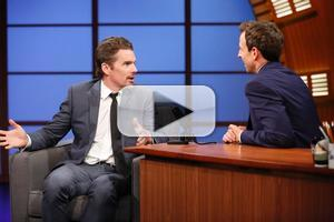 VIDEO: Ethan Hawke Talks New Film 'Boyhood' on LATE NIGHT