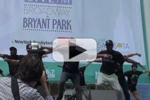 BWW TV: Cast of ILUMINATE Lights up BROADWAY IN BRYANT PARK!