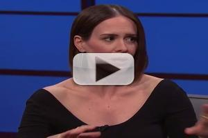 VIDEO: Sarah Paulson Reveals AHS: FREAK SHOW Secrets on LATE NIGHT!