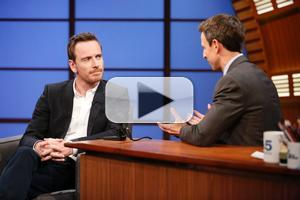VIDEO: Michael Fassbender Talks New Film 'Frank' & More on LATE NIGHT