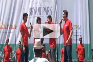 BWW TV: Cast of JERSEY BOYS Performs at BROADWAY IN BRYANT PARK!