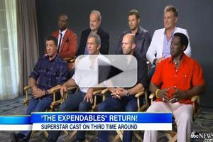 VIDEO: Sylvester Stallone & All-Star Cast Talk EXPENDABLES 3 on GMA