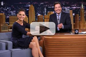 VIDEO: Katie Holmes Plays Photo Booth, Talks 'The Giver' on TONIGHT SHOW