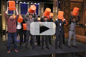VIDEO: Jimmy Fallon, The Roots & More Accept ALS Ice Bucket Challenge on TONIGHT SHOW