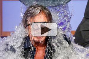 VIDEO: Mickey Rourke Accepts the ALS Ice Bucket Challenge on LATE NIGHT