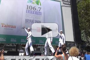 BWW TV: ON THE TOWN Cast Hails 'New York, New York' at Bryant Park!