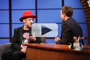 VIDEO: Boy George Talks Culture Club Reunion on LATE NIGHT
