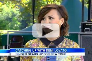 VIDEO: Demi Lovato Talks Tour with Christina Perri & More on GMA