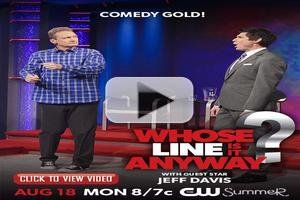 VIDEO: Sneak Peek - Jeff Davis Guests on Tonight's WHOSE LINE IS IT ANYWAY?