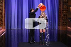 VIDEO: Lindsay Lohan Accepts the ALS Ice Bucket Challenge on TONIGHT SHOW