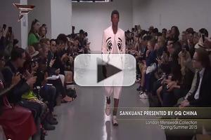 VIDEO: Sankuanz Presented by GQ China London Menswear Collection Spring Summer 2015