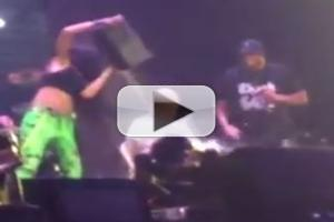 STAGE TUBE: Rihanna and Eminem Take ALS Ice Bucket Challenge On Stage in Detroit