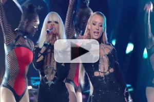 VIDEO: Iggy Azalea, Rita Ora Spin a Web with 'Black Widow' at VMAs