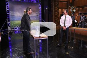 VIDEO: Blake Shelton Plays 'Random Object Football Toss' & More on TONIGHT SHOW