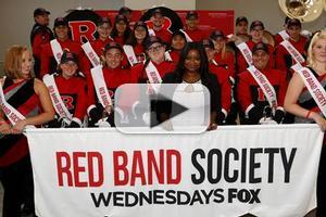 VIDEO: RED BAND SOCIETY's Octavia Spencer & Rutger's Marching Band Visit NY Children's Hospital