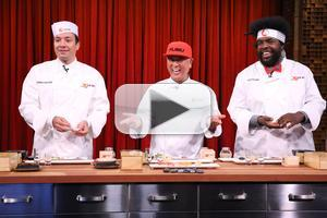 VIDEO: Jimmy, Questlove & Chef Nobu Compete in Sushi-Making Contest on TONIGHT
