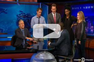 VIDEO: Jon Stewart Bids Fond Farewell to THE DAILY SHOW's Michael Che