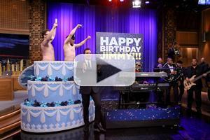 VIDEO: Seth Rogen, James Franco Surprise JIMMY FALLON on 40th Birthday