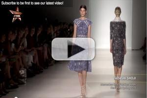 VIDEO: Tadashi Shoji Mercedes Benz Fashion Week New York Spring 2015