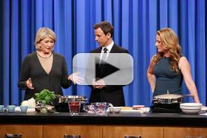 VIDEO: Martha Stewart, Ana Gasteyer Cook One-Pot Meals on LATE NIGHT