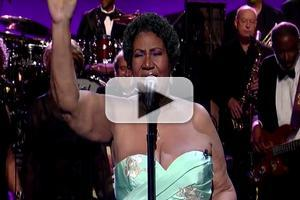 VIDEO: Aretha Franklin Performs 'Rolling in the Deep', 'Ain't No Mountain' on LETTERMAN!