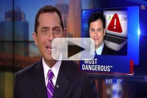 VIDEO: JIMMY KIMMEL Mocks Report That He's 'Most Dangerous' Celebrity Online