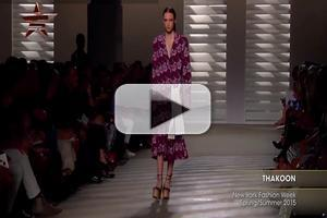 VIDEO: Thakoon NYFW Spring Summer 2015