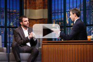 VIDEO: Zachary Quinto Talks New Docu-Series 'The Chair' on LATE NIGHT