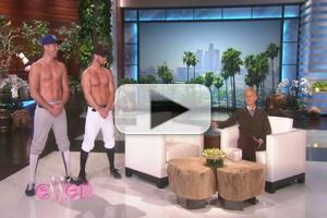 VIDEO: ELLEN Predicts World Series Results with Help of Male Strippers!