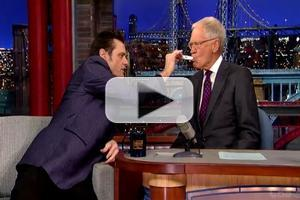 VIDEO: Jim Carrey Tests David Letterman for Ebola on LATE SHOW