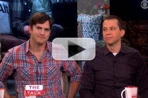 VIDEO: New Dad Ashton Kutcher & Jon Cryer Chat TWO & 1/2 MEN on The Talk