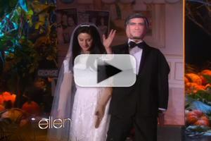 VIDEO: ELLEN Channels Mr. AND Mrs. Clooney for Halloween!