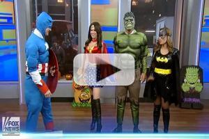 VIDEO: FOX & FRIENDS Team Channel Superheroes for Halloween