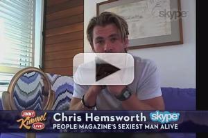 VIDEO: JIMMY KIMMEL Reveals Chris Hemsworth Named People's 'Sexiest Man Alive'
