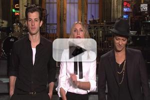 VIDEO: Host Cameron Diaz Guides Mark Ronson & Bruno Mars Through SNL Promos
