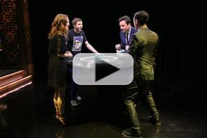 VIDEO: Alan Cumming, Michael Cera & Julianne Moore Play 'Catchphrase' on TONIGHT