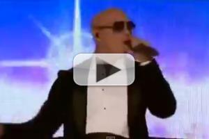 VIDEO: Pitbull Performs 'Fireball' on 2014 AMA's