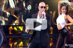 VIDEO: Pitbull Brings the Heat with 'Fireball' GMA Performance