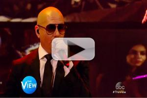 VIDEO: Pitbull Performs Hit Single 'Fireball' on THE VIEW