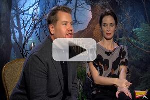 BWW TV Exclusive: James Corden and Emily Blunt Chat INTO THE WOODS Auditions and More with Richard Ridge!