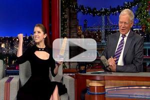 VIDEO: Dave Gives Anna Kendrick Sex Toy for the Holidays on LETTERMAN