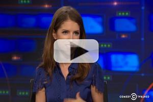 VIDEO: INTO THE WOODS' Anna Kendrick Talks On-Set Vocal Warm Ups on 'Daily Show'