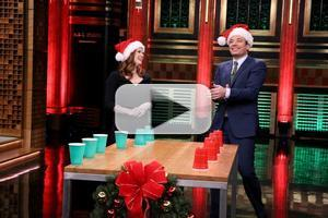 VIDEO: Amy Adams Plays Holiday Flip Cup, Talks New Film 'Big Eyes' on TONIGHT
