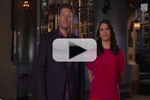 VIDEO: Host Blake Shelton Taunts 'Voice' Rival Adam Levine in New SNL Promo