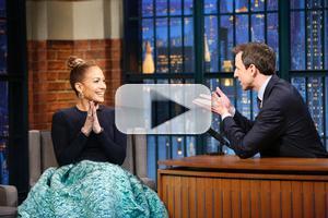 VIDEO: Jennifer Lopez Talks 'Boy Next Door' & More on LATE NIGHT