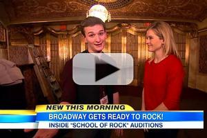 VIDEO: GMA Catches Up with Original SCHOOL OF ROCK Cast Member at Broadway Auditions