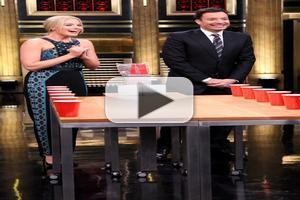 VIDEO: 'Focus' Star Margot Robbie Plays Flip Cup on TONIGHT